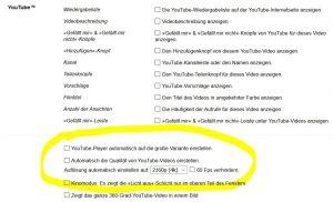 Turn Off the Lights kann automatisch die höchste Qualität für Youtube Videos festlegen