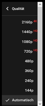 Beim hochladen erkentn Youtube dein 4K Video automatisch