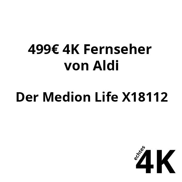 Medion Life X18112 4K TV bei uns im Techcheck